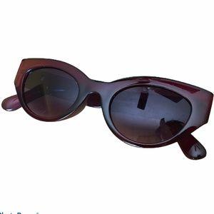 Accessories - Retro Cat Eye Sunglasses Brown Frames Black Lenses